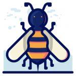 illustration of a honey bee